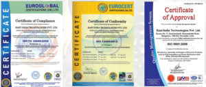 iso certifications east india